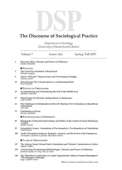 Orientalist and Liberating Discourses of East-West Difference: Revisiting Edward Said and the Rubaiyat of Omar Khayyam Mohammad H. Tamdgidi