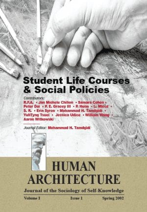Student Life Courses & Social Policies HUMAN ARCHITECTURE Journal of the Sociology of Self-Knowledge Volume I • Issue 1 • Spring 2002 Journal Editor: Mohammad H. Tamdgidi, UMass Boston